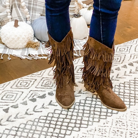 C Label Western Fringe Boot